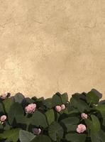 Disposizione di foglie di palma verde 3d foto