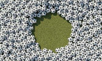 composizione vista dall'alto con palloni da basket foto