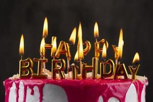 cupcakes per feste di compleanno con candele foto
