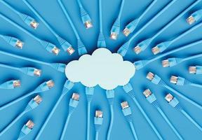 concetto di cloud computing foto