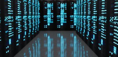 sfondo sfocato di una sala server foto