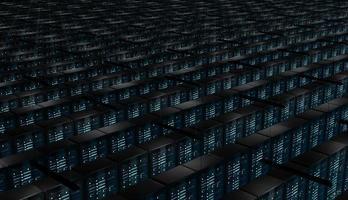 stanza infinita di server di rete foto