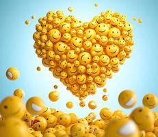 arrangiamento di emoji per la giornata mondiale del sorriso foto