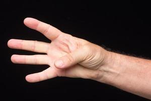 segni delle dita di un uomo adulto adult foto