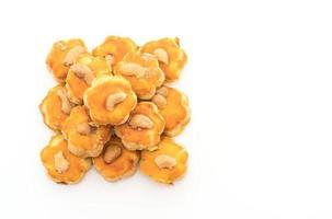 biscotti durian su sfondo bianco foto