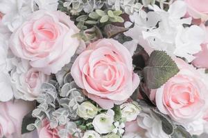 bouquet di fiori sfondo - immagini in stile effetto vintage foto