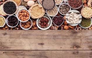 ingredienti per la selezione di cibi sani foto