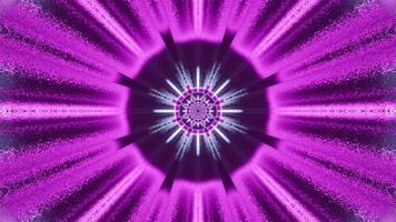 disegno circolare al neon lucido 4k uhd 3d illustration foto