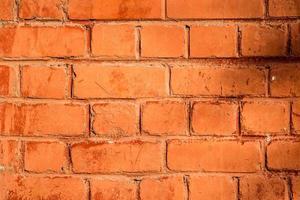 struttura del muro di mattoni arancione foto
