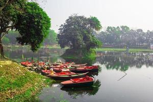 una bellissima immagine del lago foto