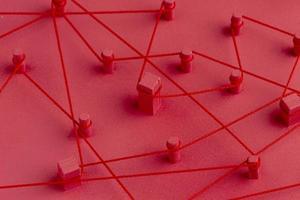 concetto di rete astratta composizione di natura morta foto