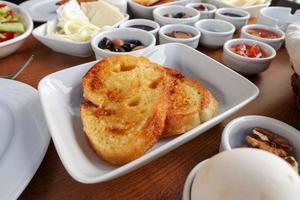 tavolo della colazione tradizionale turca foto
