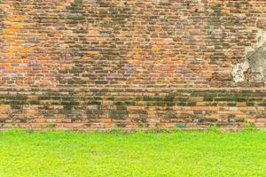 struttura vuota del muro di mattoni per lo sfondo foto