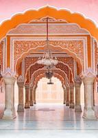 palazzo della città di jaipur nella città di jaipur, rajasthan, india foto