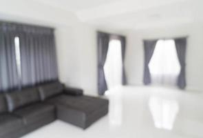 sfocatura astratta nel soggiorno per lo sfondo foto