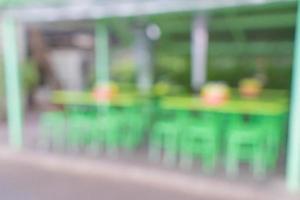 sfocatura astratta nel ristorante di strada per lo sfondo foto