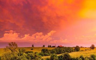 campagna del kentucky al tramonto foto