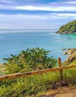 bella vista panoramica dalla spiaggia d'argento koh samui thailandia. foto