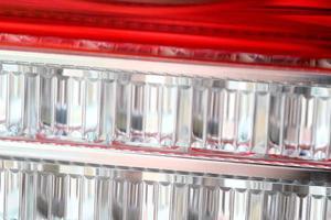 macro della luce dell'auto foto