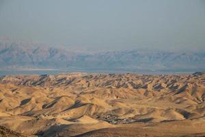 vista del deserto del deserto della Giudea, israele foto