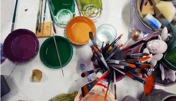 attrezzatura per pennelli per oggetti d'arte foto