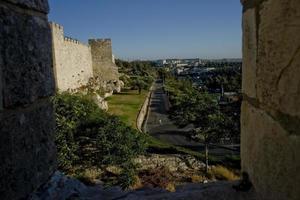le mura della città vecchia di Gerusalemme, la terra santa foto