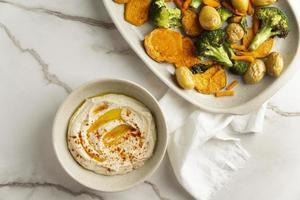 delizioso pasto vegano ad alto contenuto proteico foto