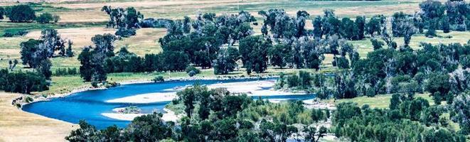 fiumi nel parco nazionale di Yellowstone nel Wyoming foto