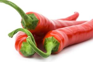 tre peperoncini rossi foto