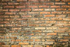 vecchio muro di mattoni di un tempio buddista - sfondo foto