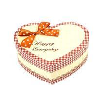 scatola del cuore e testo felice ogni giorno foto