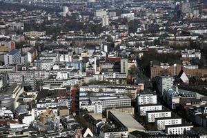 edifici generali del paesaggio urbano europeo in germania francoforte foto