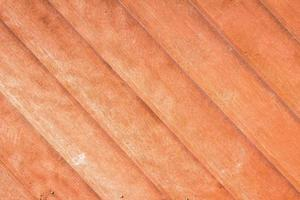 primo piano della struttura della plancia di legno di teak foto