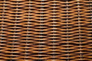 tradizionale cesto di paglia in legno naturale foto