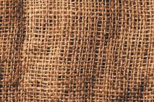 fondo di struttura della tela di lino, vista dettagliata del primo piano foto