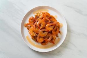 i gamberi dolci sono un piatto tailandese che cucina con salsa di pesce e zucchero? foto