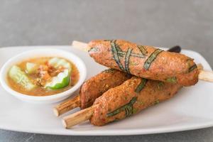 bastoncino di pasta di pesce fritto foto