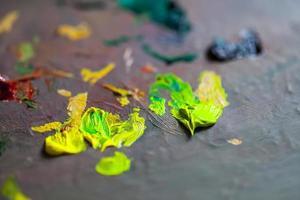 tavolozza dei colori del pennello artistico brush foto