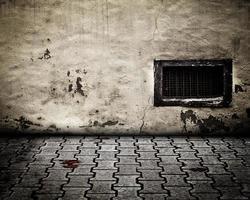 palcoscenico interno urbano muro di pietra foto