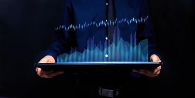 grafico investitori economia azionario icona illustrazione mercato azionario foto
