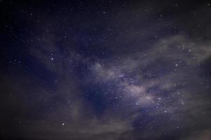 via lattea e stelle di notte foto