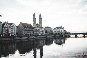 Zurigo vista sulla città, Svizzera, Europa foto