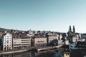 Vista aerea della città di Zurigo, Svizzera, Europa foto