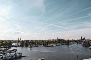 vista aerea di amsterdam, paesi bassi, europa foto