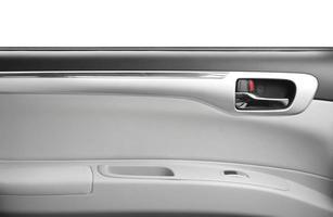 portiera della macchina giapponese su sfondo bianco foto