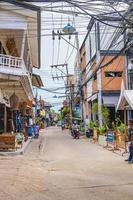 bar di strada, ristoranti nel villaggio di pescatori, bophut, koh samui, thailandia, 2018 foto