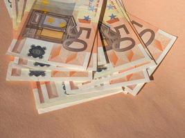 banconote da cinquanta euro foto