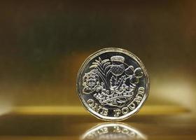 Moneta da 1 sterlina, regno unito sull'oro foto