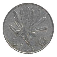 moneta italiana vintage foto