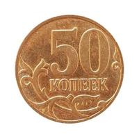 Moneta da 50 centesimi di rublo, russia foto